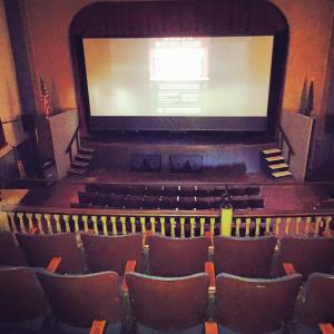 The inside of the theater, a view from the only theater balcony in the area. Photo credit: Natalie Weintraub